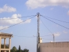 Línea área baja tensión en San Bartolomé